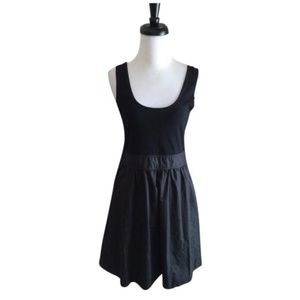 Theory Boa Sleeveless Cotton Black Dress